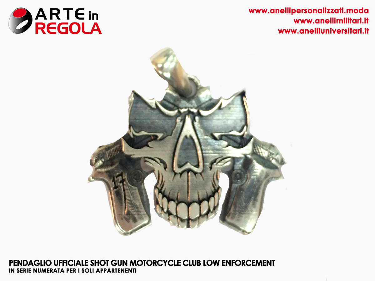 Pendaglio Ufficiale Shot Gun, appartenenti motorcycle club law enforcement